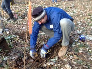 NWEI Executive Director Mike Mercer plants a tree in Tualatin, OR on Martin Luther King Jr. Day
