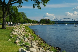 La Crosse, Wisconsin - Bridge crossing the Mississippi River