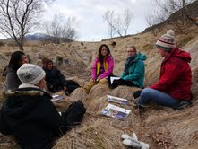 CELL study abroad students participate in an NWEI discussion course in Iceland - Spring, 2013