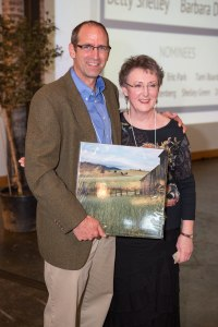 Betty Shelley and NWEI Executive Director Mike Mercer at the NWEI 20th Anniversary Celebration